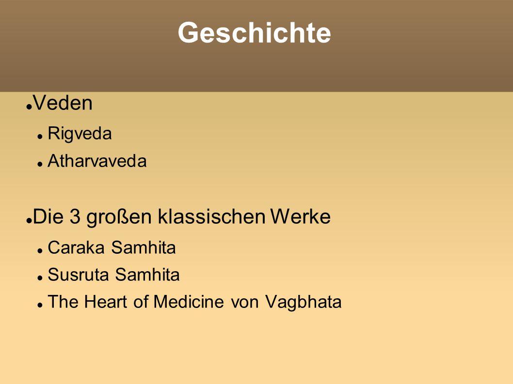 Geschichte Veden Rigveda Atharvaveda Die 3 großen klassischen Werke Caraka Samhita Susruta Samhita The Heart of Medicine von Vagbhata