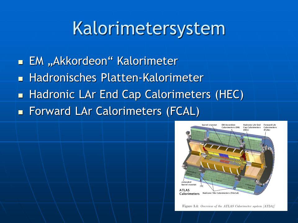 """Kalorimetersystem EM """"Akkordeon Kalorimeter EM """"Akkordeon Kalorimeter Hadronisches Platten-Kalorimeter Hadronisches Platten-Kalorimeter Hadronic LAr End Cap Calorimeters (HEC) Hadronic LAr End Cap Calorimeters (HEC) Forward LAr Calorimeters (FCAL) Forward LAr Calorimeters (FCAL)"""