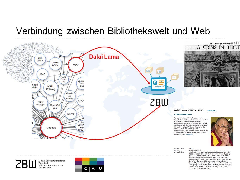 11 Dalai Lama Verbindung zwischen Bibliothekswelt und Web