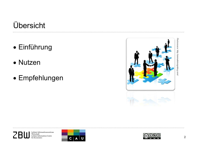 2 Übersicht  Einführung  Nutzen  Empfehlungen Photosource: http://ummahdesignblog.com/