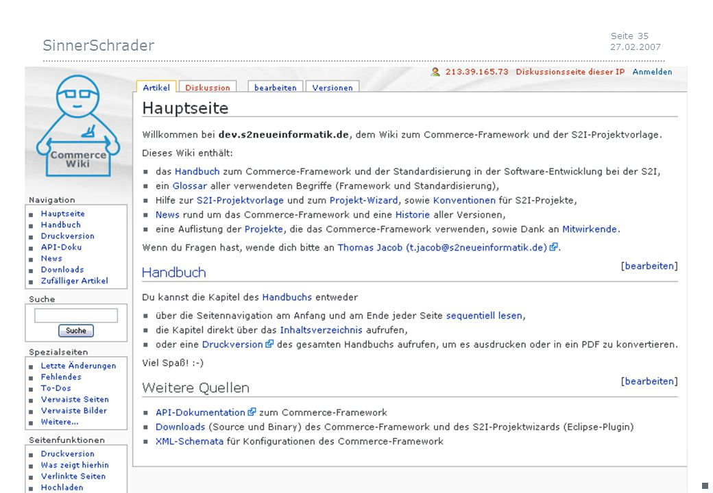 SinnerSchrader 27.02.2007 Seite 35