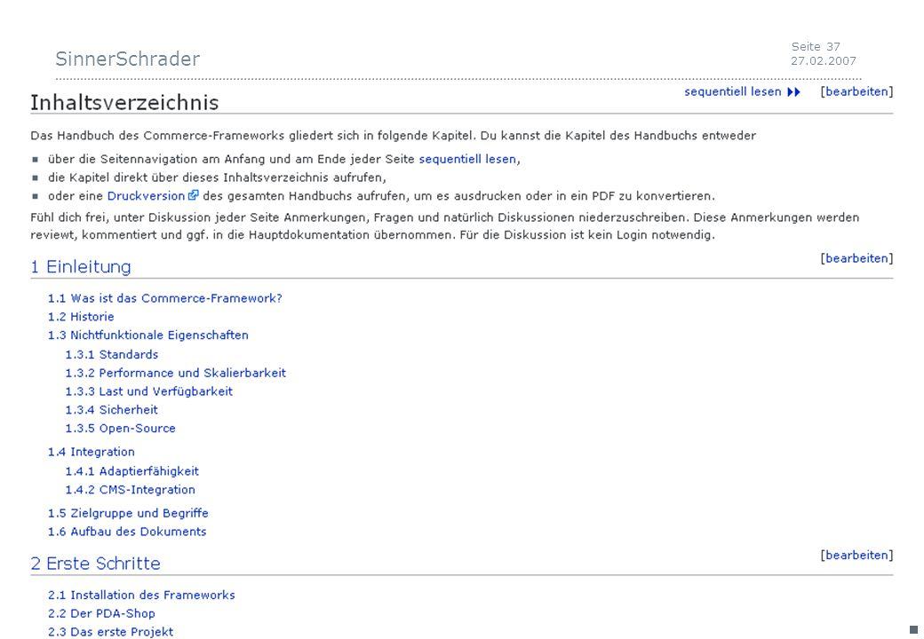 SinnerSchrader 27.02.2007 Seite 37