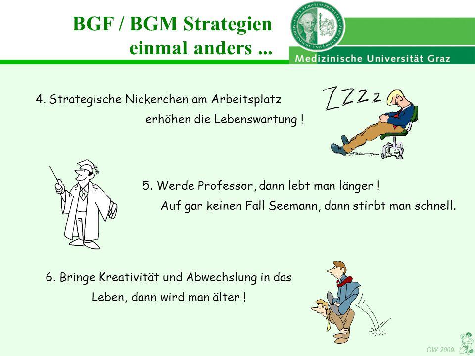 GW 2009 4.Strategische Nickerchen am Arbeitsplatz erhöhen die Lebenswartung .