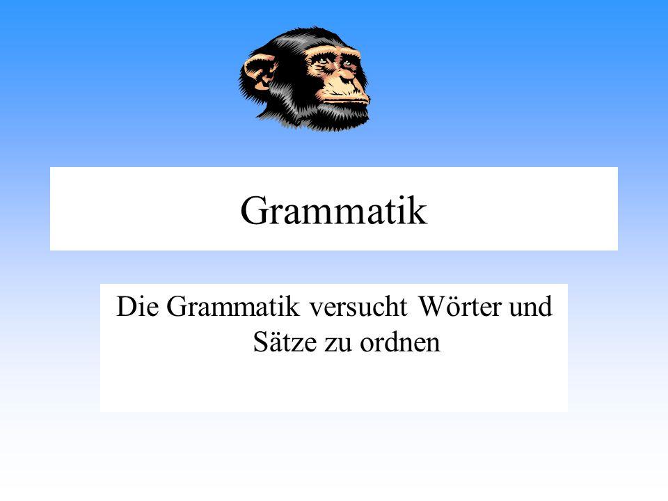 Grammatik Die Grammatik versucht Wörter und Sätze zu ordnen
