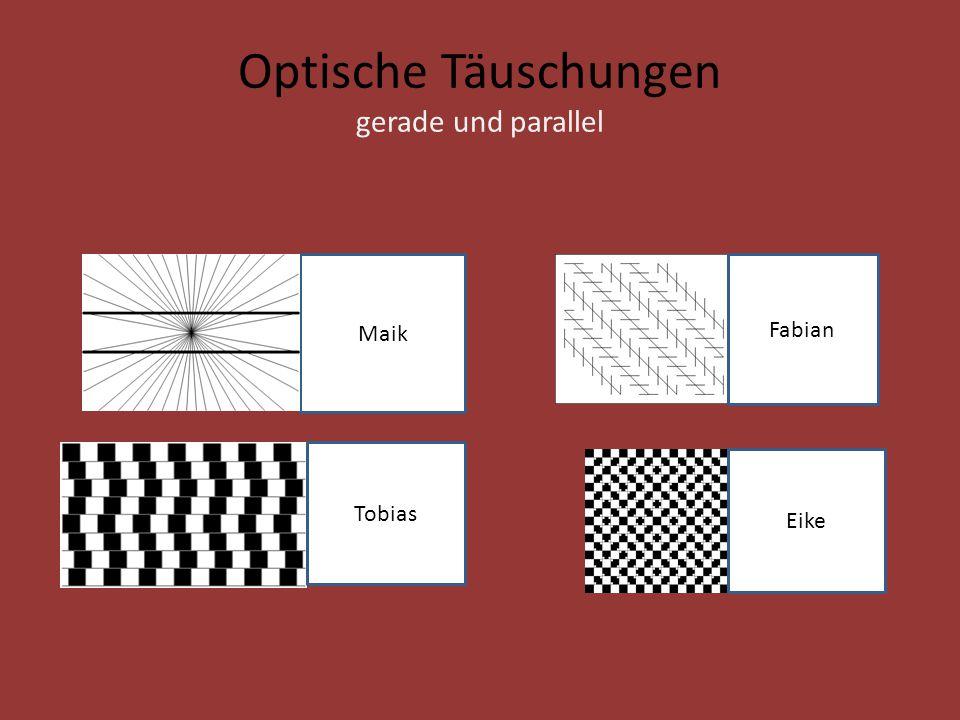 Optische Täuschungen gerade und parallel Maik Eike Fabian Tobias