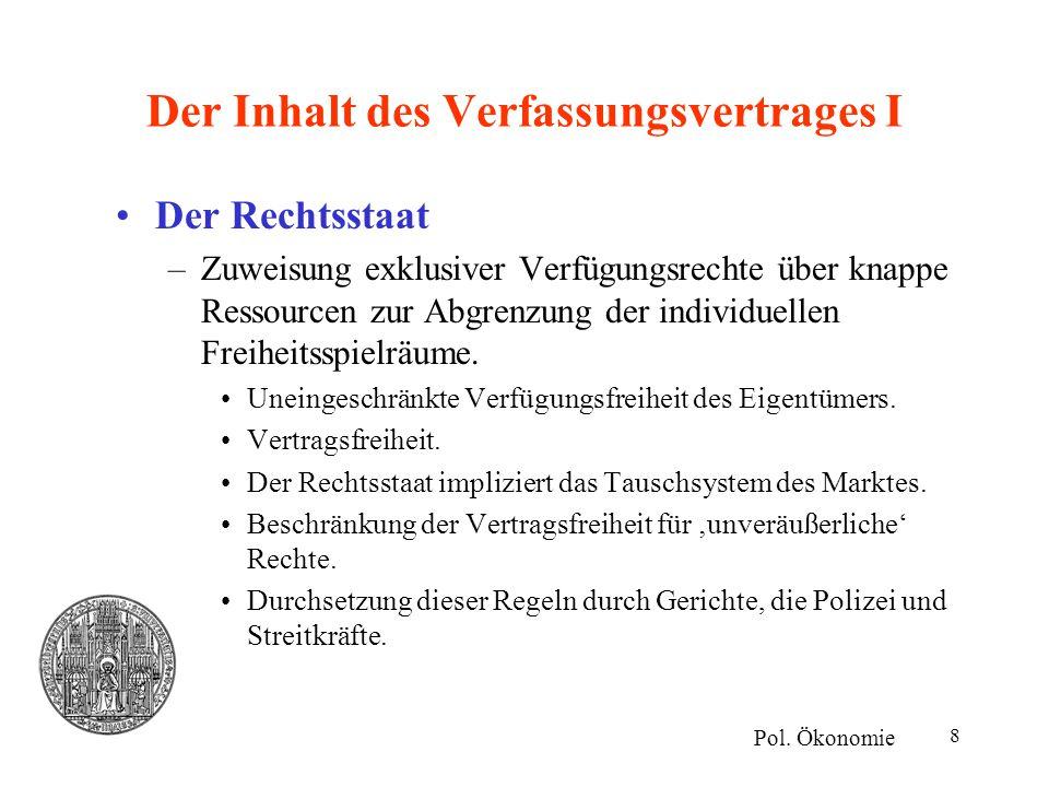19 Zusammenfassung II Verfassungsreform nach Regeln der Entscheidung über eine Verfassung Kompetenzkompetenz des Souveräns (der Bürger).