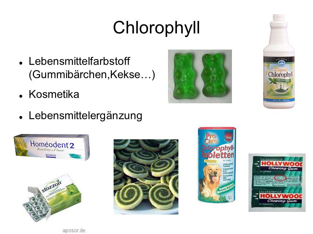 Lebensmittelfarbstoff (Gummibärchen,Kekse…) Kosmetika Lebensmittelergänzung Chlorophyll