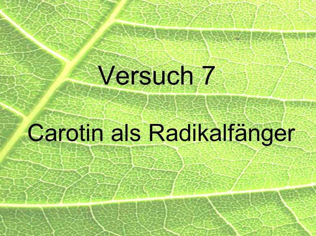 53 Versuch 7 Carotin als Radikalfänger