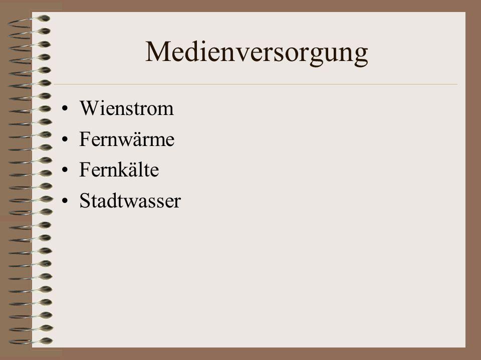 Medienversorgung Wienstrom Fernwärme Fernkälte Stadtwasser