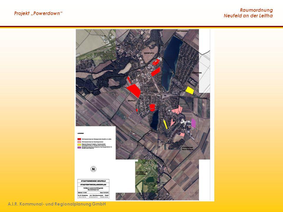 """Raumordnung Neufeld an der Leitha Projekt """"Powerdown"""" A.I.R. Kommunal- und Regionalplanung GmbH"""