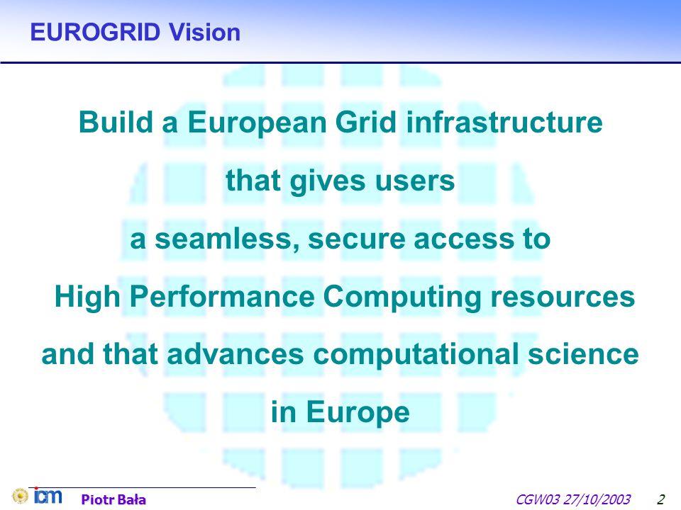 UNICORE – Towards production quality grid environment Piotr Bała N. Copernicus University – Toruń (PL) ICM Warsaw University (PL) Funding by European