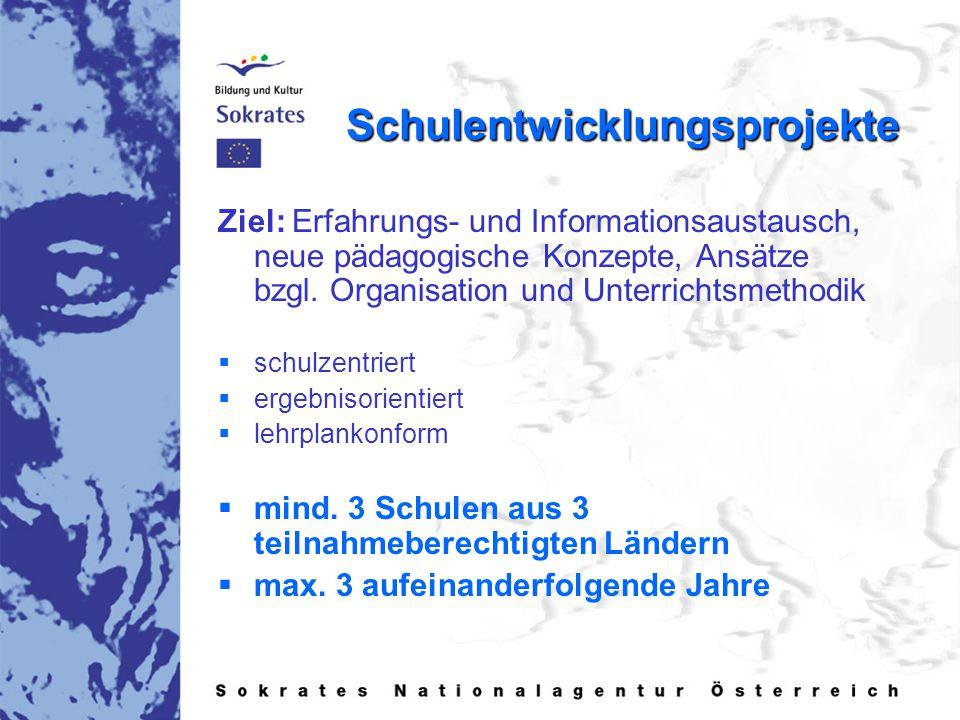 Schulentwicklungsprojekte Ziel: Erfahrungs- und Informationsaustausch, neue pädagogische Konzepte, Ansätze bzgl.