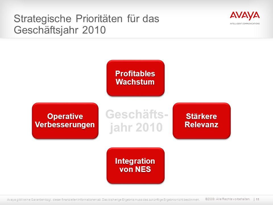 ©2009. Alle Rechte vorbehalten. Strategische Prioritäten für das Geschäftsjahr 2010 Stärkere Relevanz Operative Verbesserungen Profitables Wachstum In