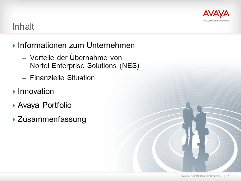 ©2009. Alle Rechte vorbehalten. Informationen zum Unternehmen 3