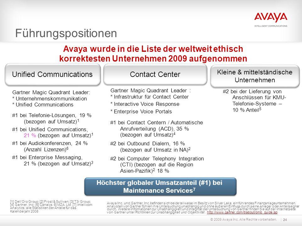 Gartner Magic Quadrant Leader: * Unternehmenskommunikation * Unified Communications #1 bei Telefonie-Lösungen, 19 % (bezogen auf Umsatz) 1 #1 bei Unif