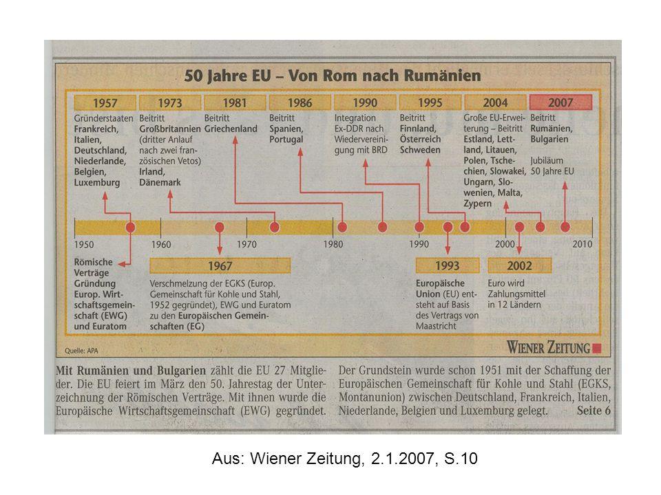 Aus: Wiener Zeitung, 2.1.2007, S.10