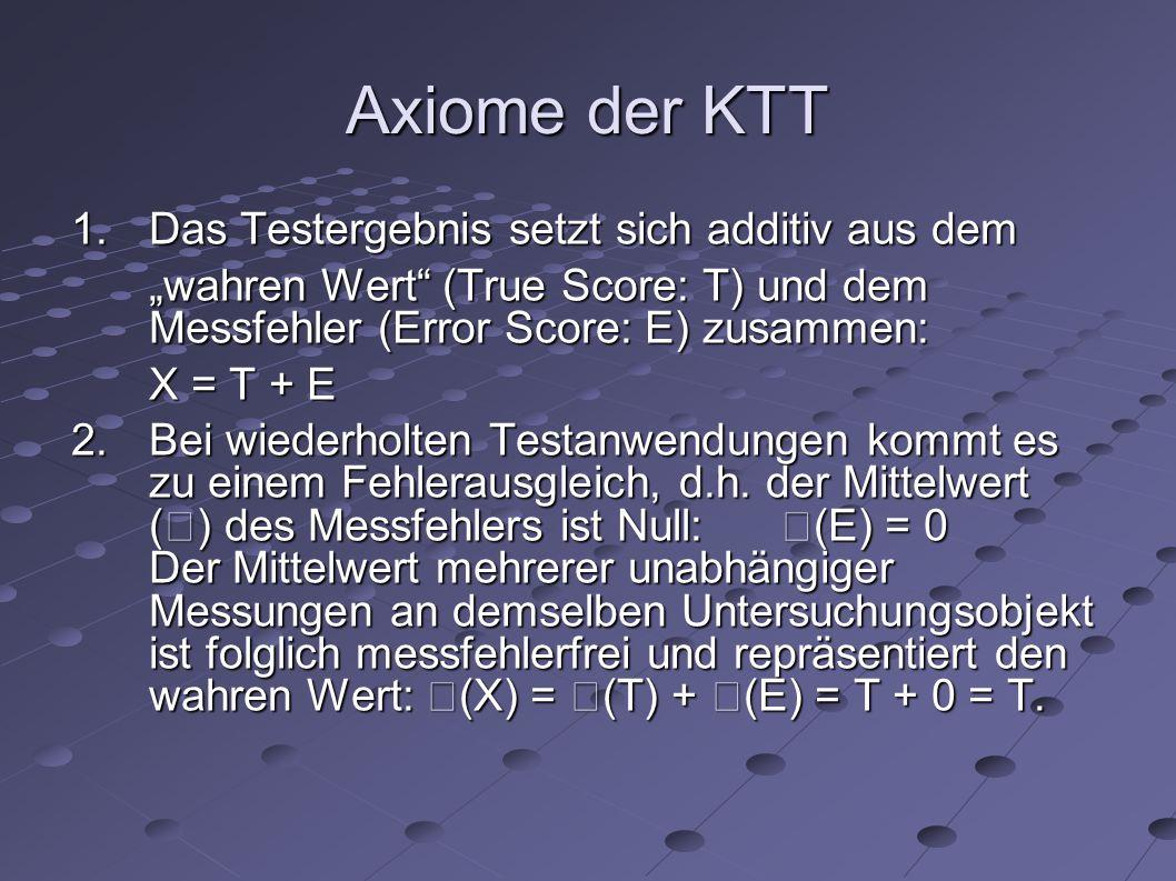 Axiome der KTT 3.