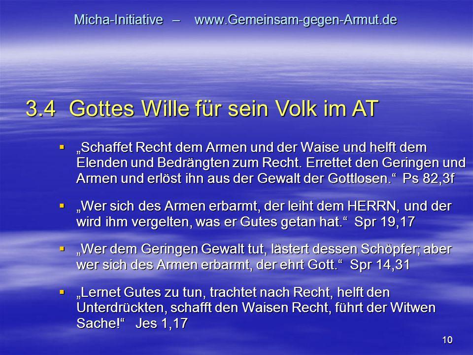 "10 Micha-Initiative – www.Gemeinsam-gegen-Armut.de  ""Schaffet Recht dem Armen und der Waise und helft dem Elenden und Bedrängten zum Recht. Errettet"