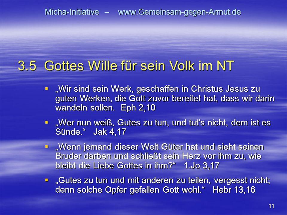 """11 Micha-Initiative – www.Gemeinsam-gegen-Armut.de  """"Wir sind sein Werk, geschaffen in Christus Jesus zu guten Werken, die Gott zuvor bereitet hat, d"""