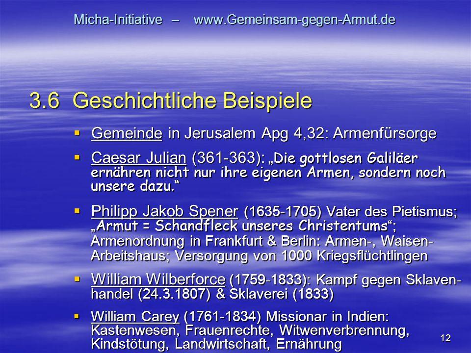 """12 Micha-Initiative – www.Gemeinsam-gegen-Armut.de  Gemeinde in Jerusalem Apg 4,32: Armenfürsorge  Caesar Julian (361-363): """" Die gottlosen Galiläer"""