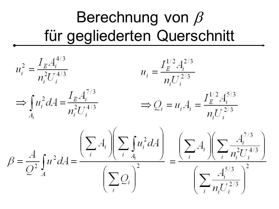 Berechnung von  für gegliederten Querschnitt