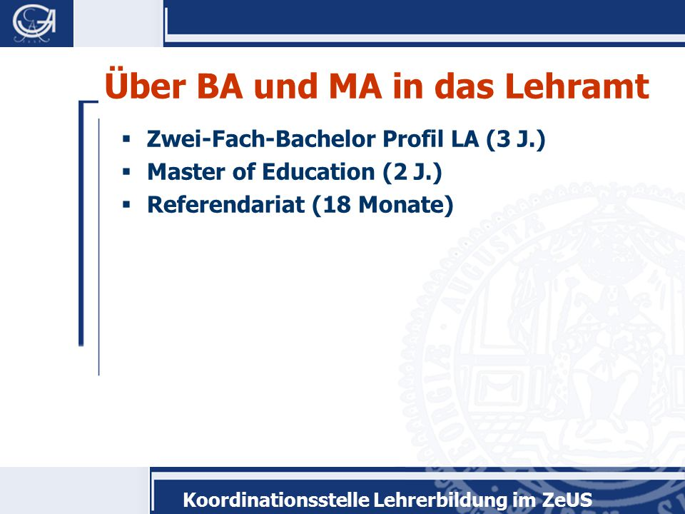 """Koordinationsstelle Lehrerbildung im ZeUS Modulprüfung  Erstellung eines Portfolios  Note zählt 2/3 im Modul """"Theorien und Modelle der Praxiserkundung"""