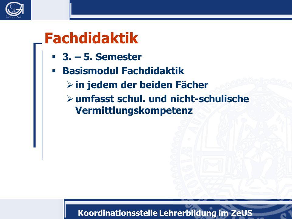 Koordinationsstelle Lehrerbildung im ZeUS Durchführung  4 Wochen Vollzeittätigkeit oder  160 Stunden in einem Jahr  Praktikum im Ausland möglich