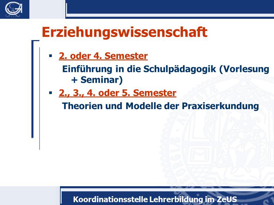 """Koordinationsstelle Lehrerbildung im ZeUS Modulprüfung  Erstellung eines Portfolios  Note zählt 1/3 im Modul """"Theorien und Methoden der Praxiserkundung"""