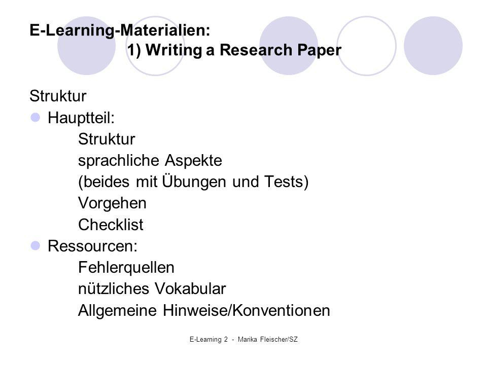E-Learning 2 - Marika Fleischer/SZ