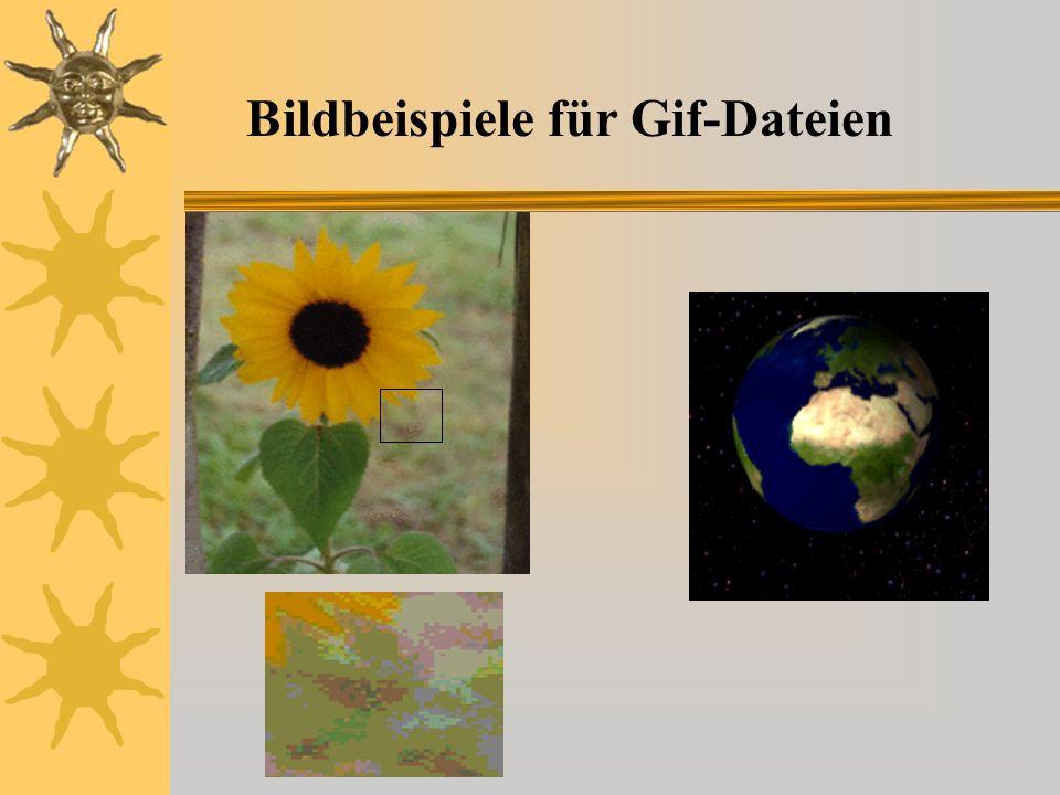 Bildbeispiele für Gif-Dateien