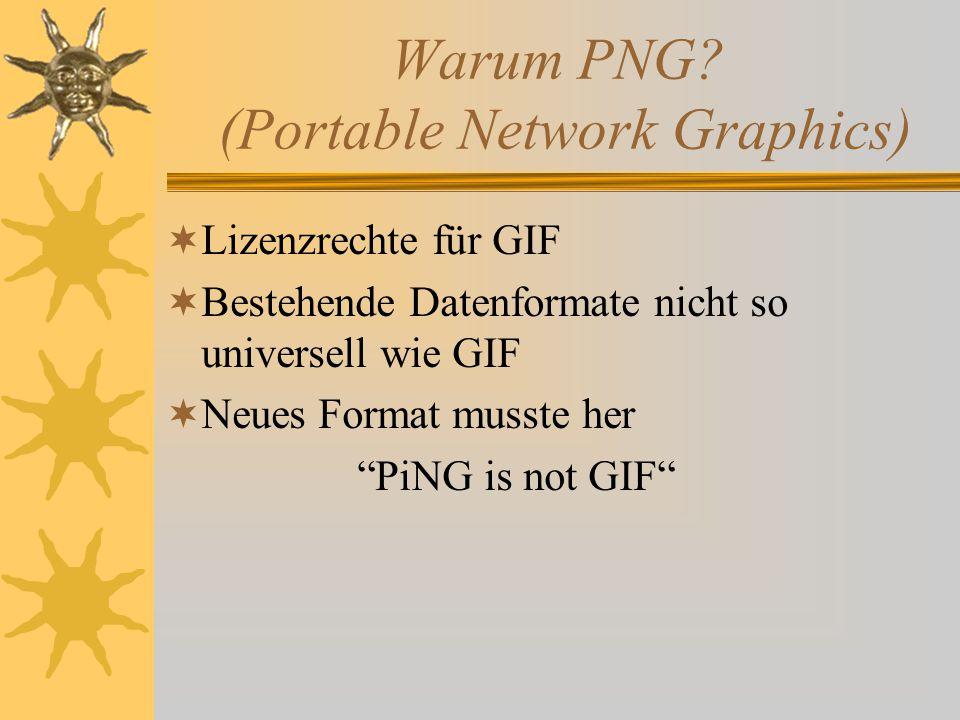 Warum PNG.