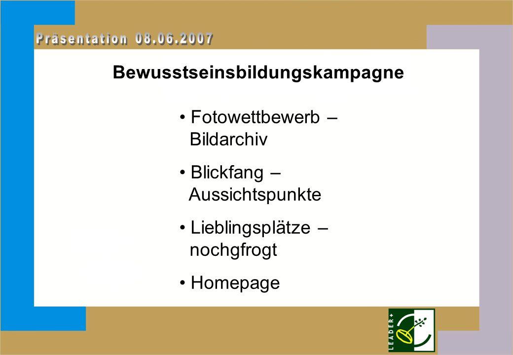 Bewusstseinsbildungskampagne Fotowettbewerb – Bildarchiv Blickfang – Aussichtspunkte Lieblingsplätze – nochgfrogt Homepage