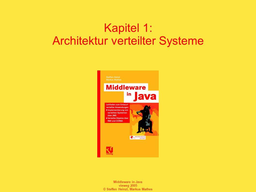Middleware in Java vieweg 2005 © Steffen Heinzl, Markus Mathes Kapitel 1: Architektur verteilter Systeme