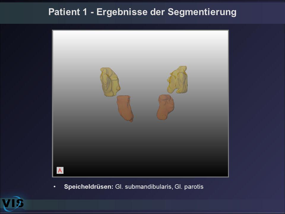 Speicheldrüsen: Gl. submandibularis, Gl. parotis
