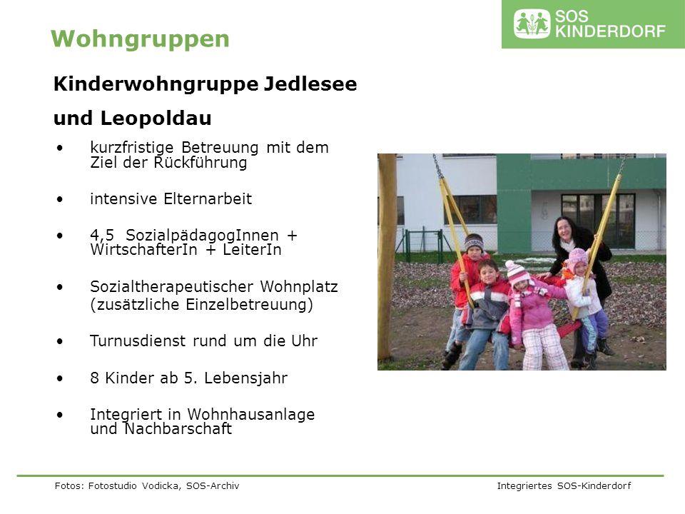 Fotos: Fotostudio Vodicka, SOS-Archiv Integriertes SOS-Kinderdorf Wohngruppen kurzfristige Betreuung mit dem Ziel der Rückführung intensive Elternarbe