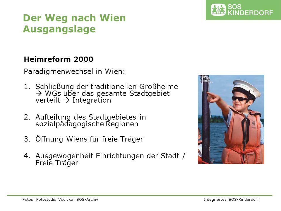 Fotos: Fotostudio Vodicka, SOS-Archiv Integriertes SOS-Kinderdorf Der Weg nach Wien Ausgangslage Heimreform 2000 Paradigmenwechsel in Wien: 1.Schließu