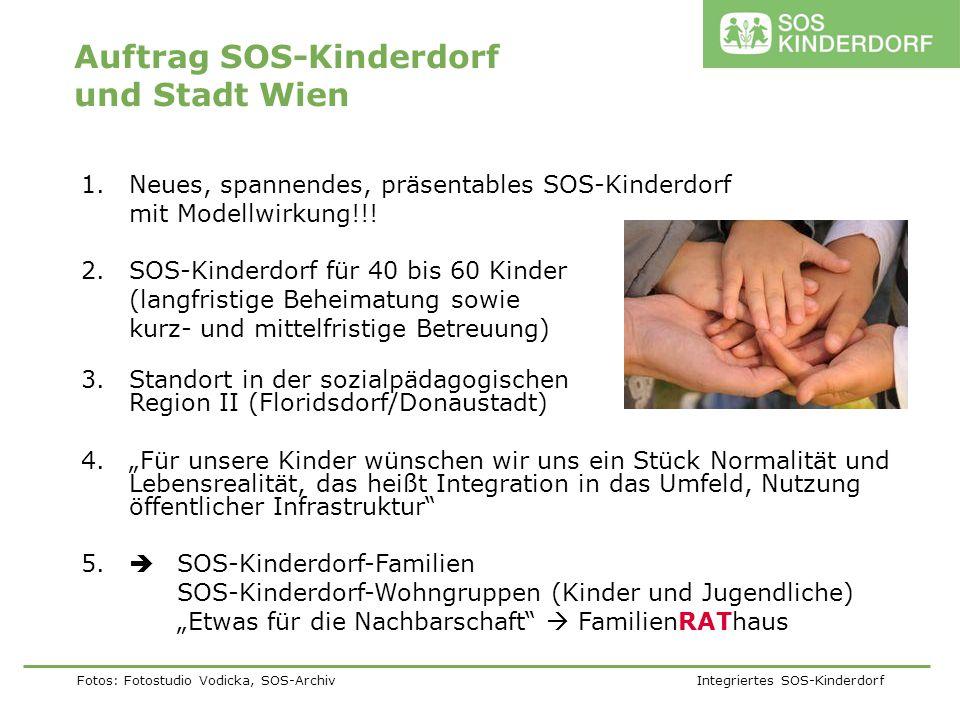 Fotos: Fotostudio Vodicka, SOS-Archiv Integriertes SOS-Kinderdorf 1.Neues, spannendes, präsentables SOS-Kinderdorf mit Modellwirkung!!! 2.SOS-Kinderdo