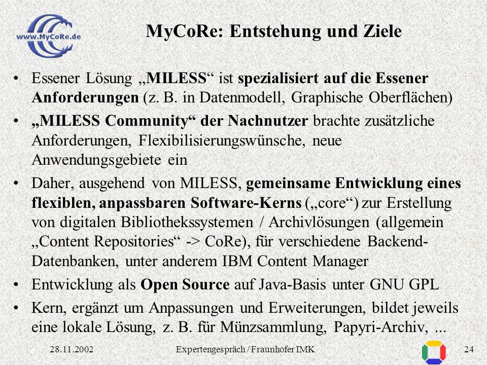 2328.11.2002Expertengespräch / Fraunhofer IMK Video-Storyboard, XML-Darstellung
