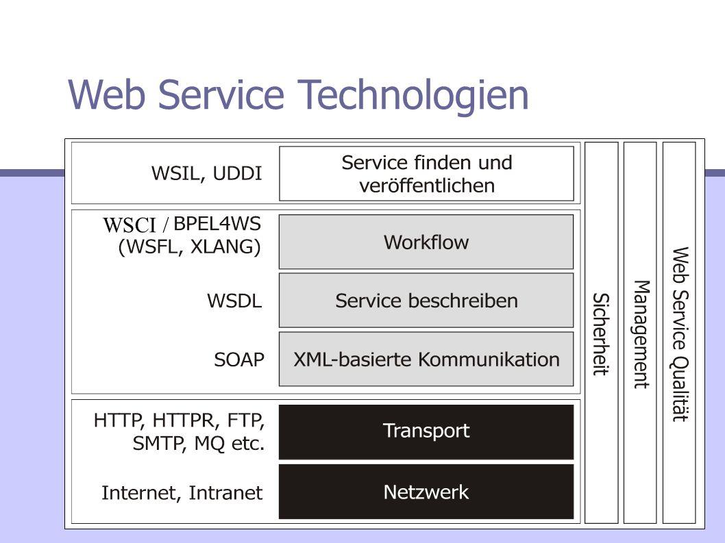 Web Service Technologien WSCI/