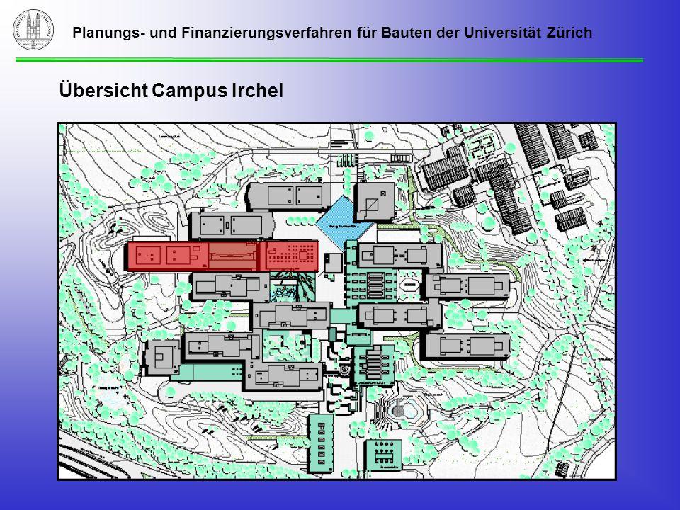 Planungs- und Finanzierungsverfahren für Bauten der Universität Zürich Übersicht Campus Irchel
