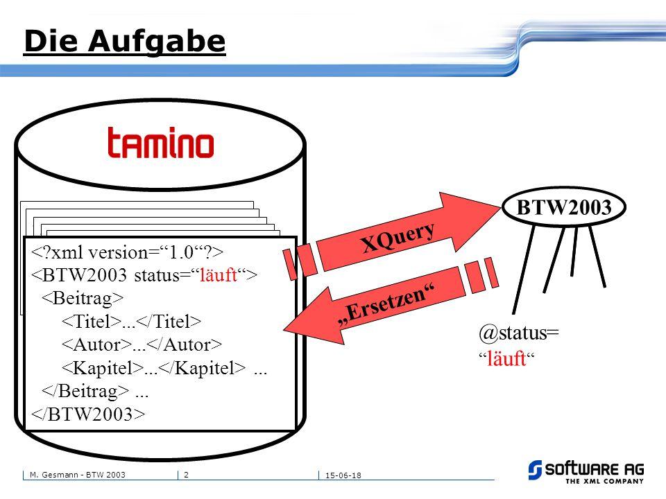 3M. Gesmann - BTW 2003 15-06-18 Die Zielsetzung....... @zustand= läuft BTW2003