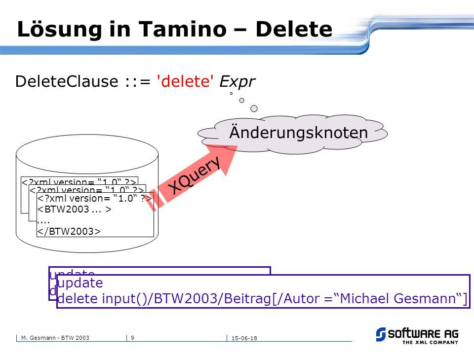 20M. Gesmann - BTW 2003 15-06-18 Danke schön! Fragen?
