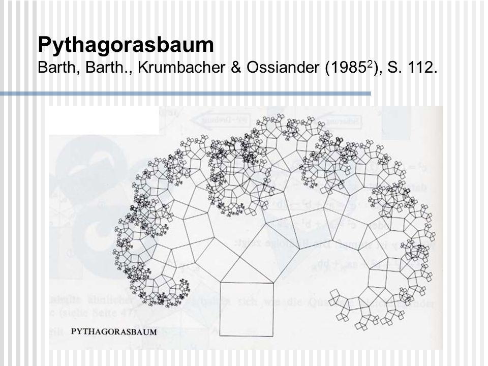 Pythagorasbaum Barth, Barth., Krumbacher & Ossiander (1985 2 ), S. 112.
