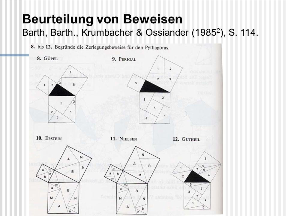 Beurteilung von Beweisen Barth, Barth., Krumbacher & Ossiander (1985 2 ), S. 114.