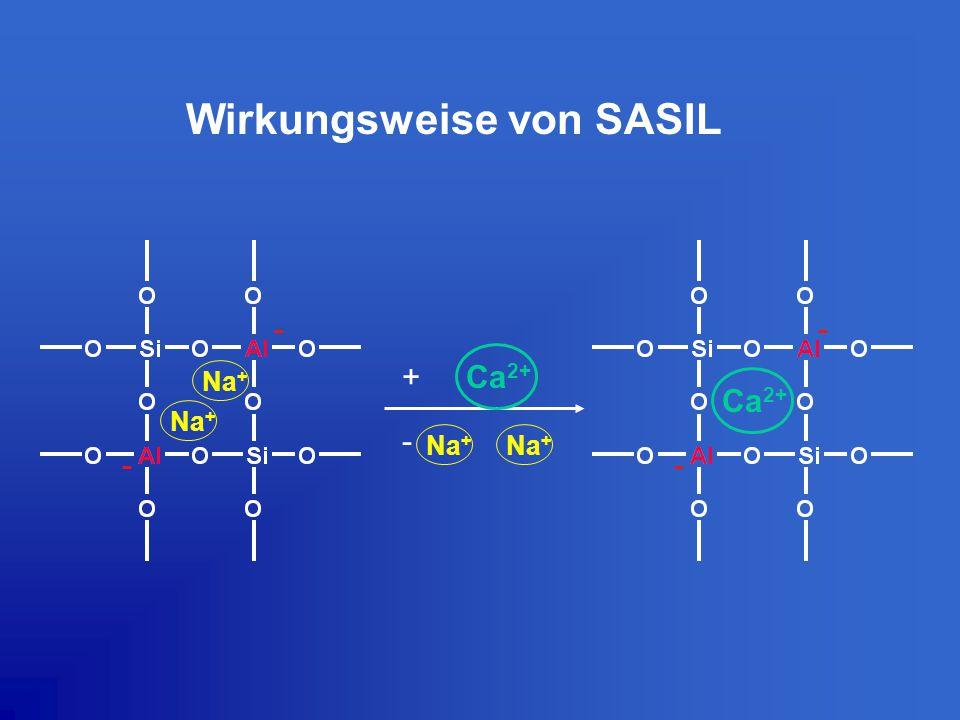 Wirkungsweise von SASIL Na + Ca 2+ + - Na + - - - -