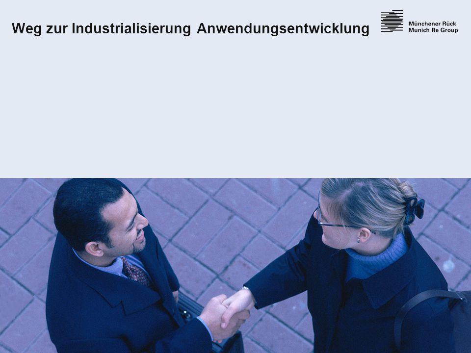 15 Weg zur Industrialisierung Anwendungsentwicklung