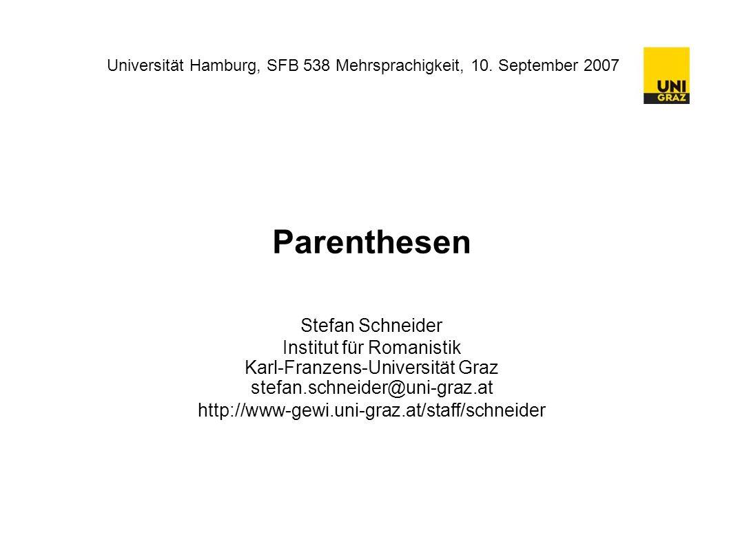Universität Hamburg, SFB 538 Mehrsprachigkeit, 10.