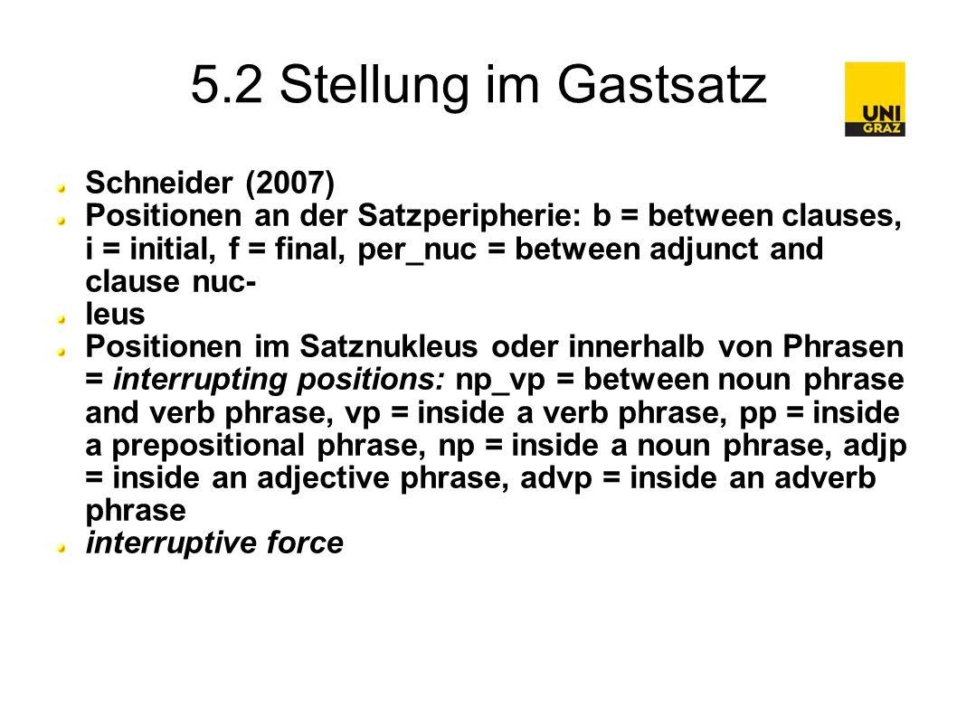 5.3 Stellung im Gastsatz