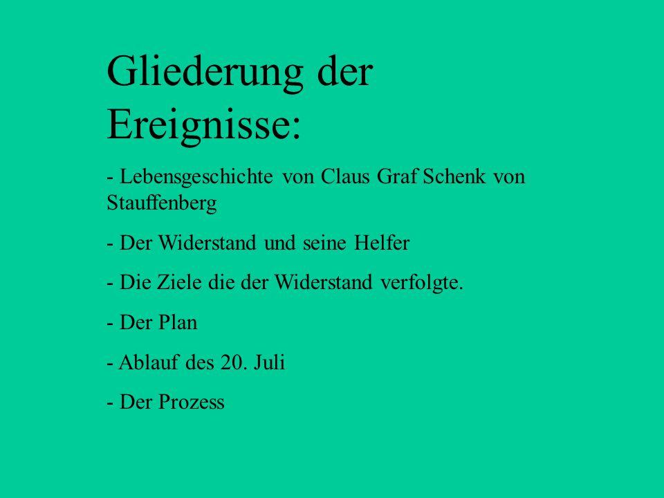 Claus Graf Schenk von Stauffenberg Das gescheiterte Bombenattentat auf Adolf Hitler