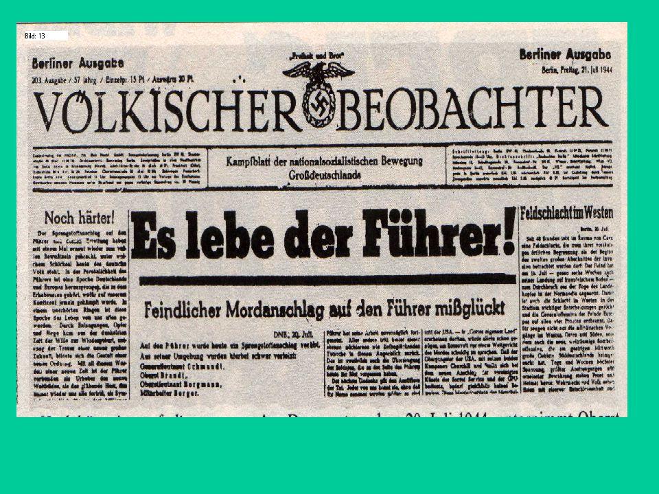 Den anderen Verschwörern wird am 7. August der Prozess gemacht. Sie werden alle auf Befehl von Hitler noch am selben Tag hingerichtet! Das Attentat fo